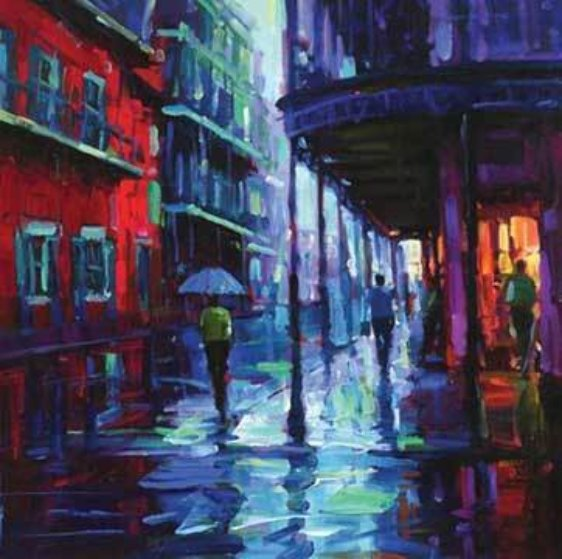 Bourbon Street 2009 Embellished  Limited Edition Print by Michael Flohr
