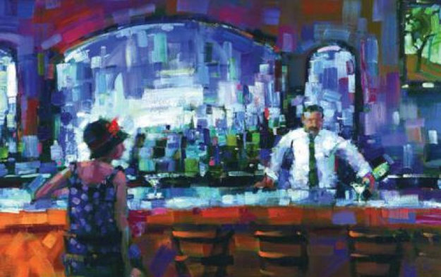 Shaken Not Stirred Embellished 2009 Limited Edition Print by Michael Flohr