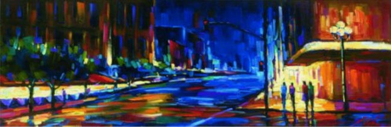 Uptown Embellished  2006 Limited Edition Print by Michael Flohr