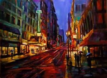 Streets of Gold Embellished 2007 Limited Edition Print by Michael Flohr