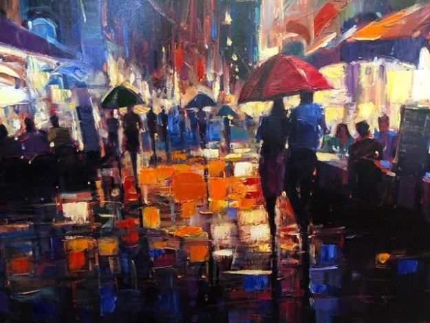 Italian Rain 2010 Limited Edition Print by Michael Flohr