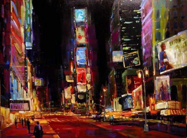 Good Times Square PP  2008 Limited Edition Print by Michael Flohr