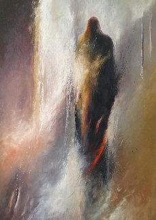 Shamanic Passage 16 1989 66x48 Huge Original Painting - Larry Fodor