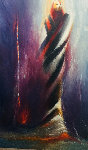 Ritual 1988 56x36 Original Painting - Larry Fodor