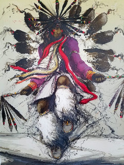 Apache Dancer 1984 Limited Edition Print - Larry Fodor