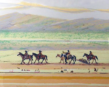 Journey Ponies 1980 Limited Edition Print - Larry Fodor