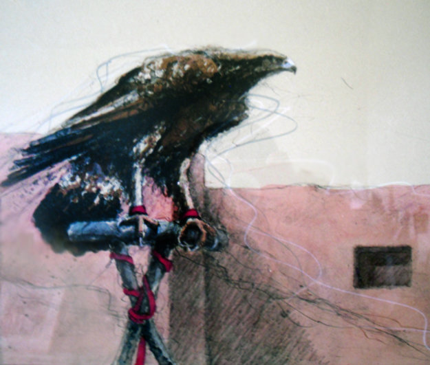 Pueblo Eagle 1984 Limited Edition Print by Larry Fodor