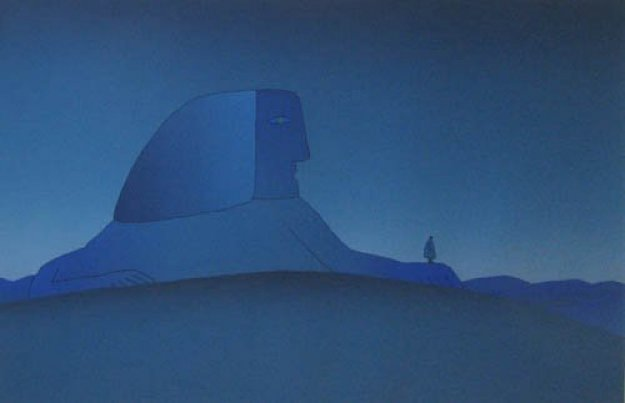 Blue Sphinx Poster and Other 1977 Other by Jean Michel Folon