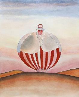 Untitled Watercolor 27x22 Watercolor - Jean Michel Folon