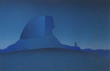 l'etranger/blue Sphinx 1975 Limited Edition Print - Jean Michel Folon