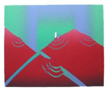 La Porte Blanche 1985 Limited Edition Print - Jean Michel Folon