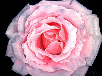 Douceur - Rose 2020 24x30 Original Painting - Claire Fontaine