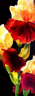 Radieuse - Iris 2020 30x12 Original Painting - Claire Fontaine
