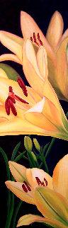 Féminité - Asiatic Lys 2020 52x22 Original Painting by Claire Fontaine