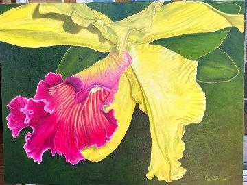 Journée En Beauté - Orchid 2020 30x40 Original Painting - Claire Fontaine
