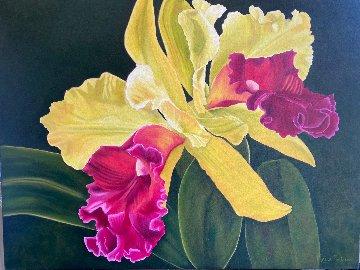 La Vie À Deux - Orchids 2020 30x40 Original Painting - Claire Fontaine