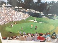 Golf Foursome At Oregon Country Club - HS By Arnold Palmer 1993 and HS by other 3 Limited Edition Print by Bart Forbes - 4