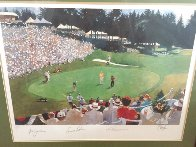 Golf Foursome At Oregon Country Club - HS By Arnold Palmer 1993 and HS by other 3 Limited Edition Print by Bart Forbes - 2