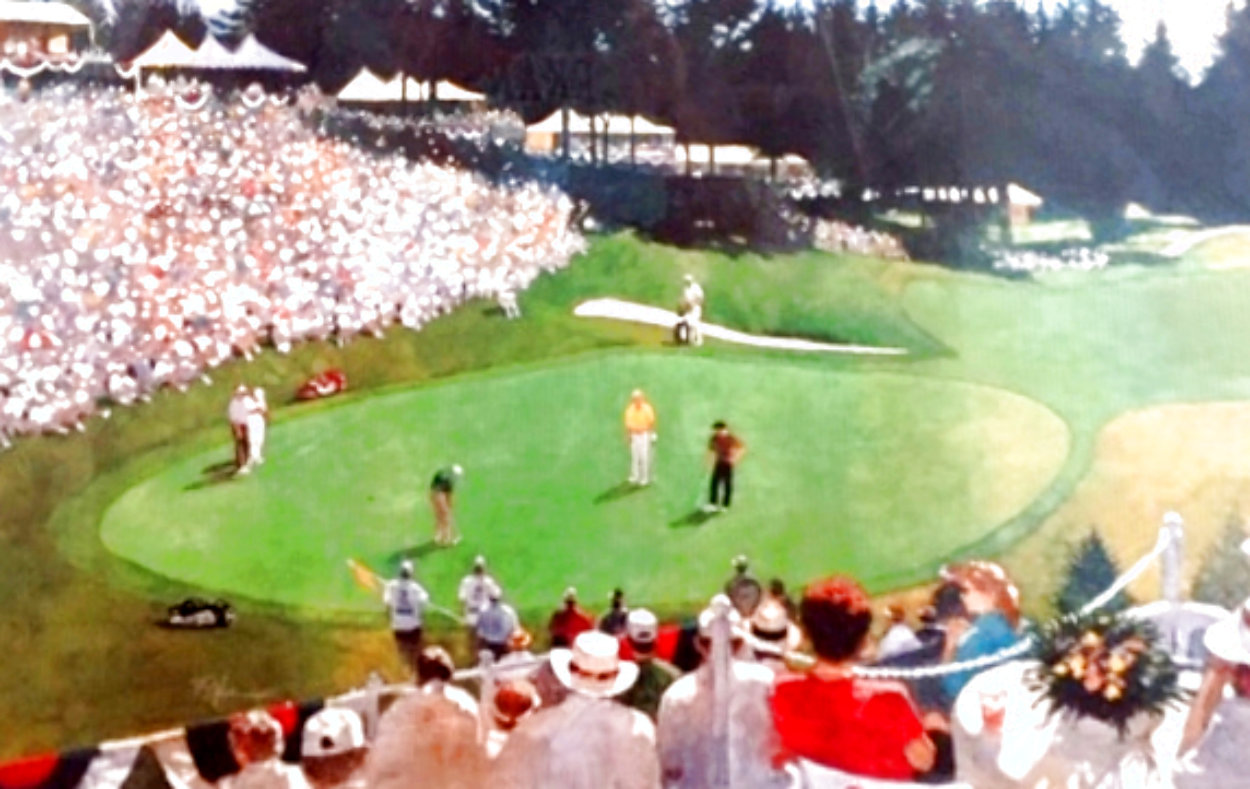 Golf Foursome At Oregon Country Club - HS By Arnold Palmer 1993 and HS by other 3 Limited Edition Print by Bart Forbes