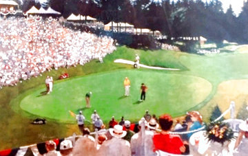 Golf Foursome At Oregon Country Club - Hand Signed By Arnold Palmer 1993 Limited Edition Print - Bart Forbes