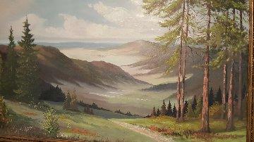 Adirondack Mountains 1968 36x57 Huge Original Painting - Caroll Forseth