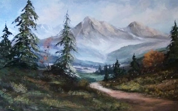 Untitled Painting 52x28 Original Painting by Caroll Forseth