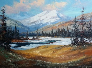 Untitled Landscape 24x30 Original Painting by Caroll Forseth