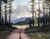 Untitled Landscape 32x56 Huge Original Painting by Caroll Forseth - 0