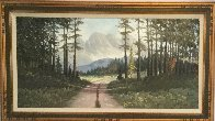 Untitled Landscape 32x56 Huge Original Painting by Caroll Forseth - 1
