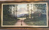 Untitled Landscape 32x56 Huge Original Painting by Caroll Forseth - 2