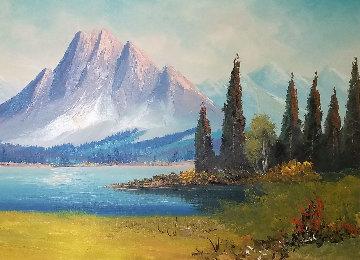 Untitled Painting 28x48 Huge Original Painting - Caroll Forseth