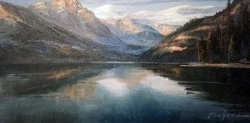 Untitled Alaskan Landscape 16x28 Original Painting by Caroll Forseth