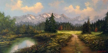 Untitled Painting 32x56 Super Huge  Original Painting - Caroll Forseth
