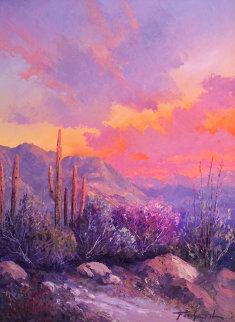 Desert Landscape 31x25 Original Painting - Caroll Forseth