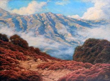 California Hills 2008 17x21 Original Painting - Dirk Foslien