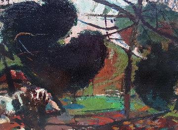 Untitled Landscape 1950 48x24 Huge Original Painting - Robert Frame