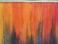 Manhattan Skyline With Burning Ships 1969 36x60 Huge Original Painting by Ozz Franca - 3