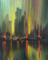 Untitled Cityscape 40x34 Original Painting by Ozz Franca - 0