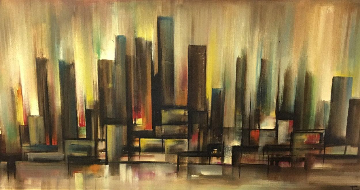 Untitled Landscape 32x56 Super Huge Original Painting by Ozz Franca