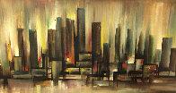 Untitled Landscape 32x56 Super Huge Original Painting by Ozz Franca - 0