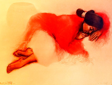 Red Shawl AP 1988 Limited Edition Print by Ozz Franca