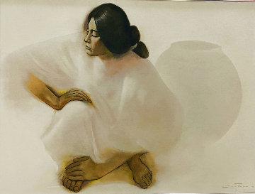 Navajo Market 1987 30x40 Super Huge Original Painting - Ozz Franca