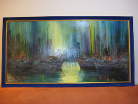 Untitled Painting 24x48 Super Huge Original Painting by Ozz Franca - 1