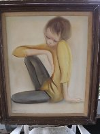 Untitled Boy 1965 32x28 Original Painting by Ozz Franca - 1