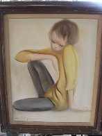 Untitled Boy 1965 32x28 Original Painting by Ozz Franca - 2
