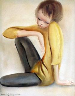 Untitled Boy 1965 32x28 Original Painting - Ozz Franca