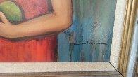 School Year (Big Eyed school of painting) 22x26 1959 Original Painting by Ozz Franca - 2