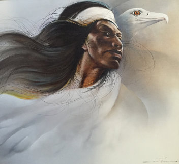 Flight of the Apache 1984 24x36  Original Painting - Ozz Franca
