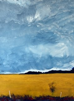 Field, Oakwood, Ontario 24x15 Original Painting by David Francey
