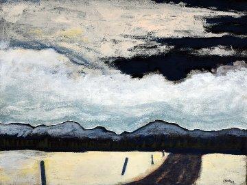 Eastern Townships, Winter 12x14 Original Painting - David Francey